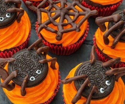 Pók cupcake: